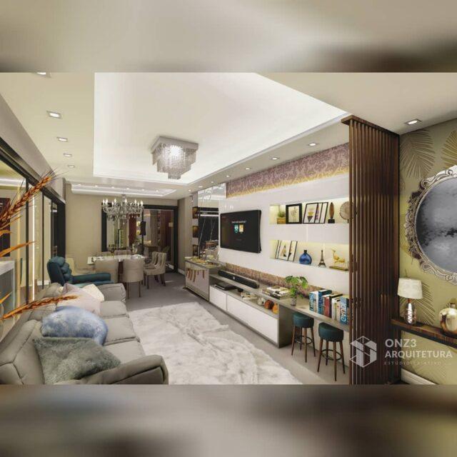 Projeto de interiores , Ed. Sovrano- Passo Fundo/RS. . . Sala de estar integrada com jantar e cozinha com ambientes planejados para melhor  conforto, com cores neutras e mobiliário pontuais de cores fortes trazendo personalidade ao ambiente. . . Projeto em execução em breve mais informações. . . . .  #arquitetura #interiores #onz3arquitera #salaestar #decoração #projeto #cozinha #salajantar #architecture #projetodeinteriores #passofundo